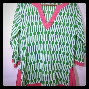Pink and Green Tunic Medium